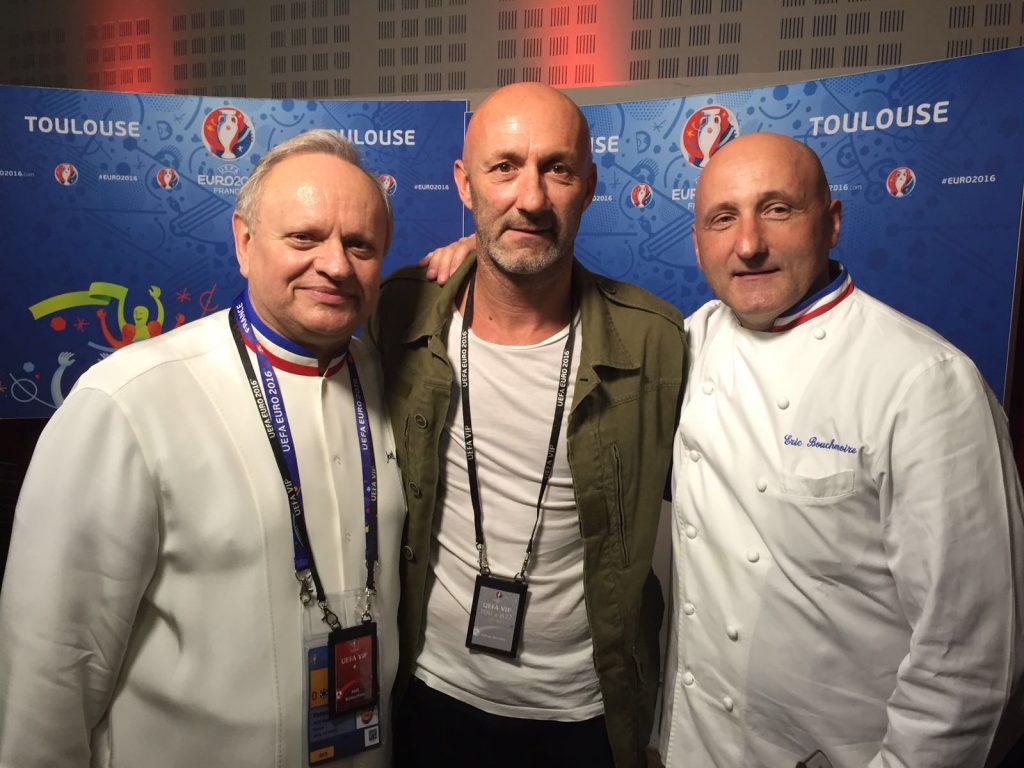 Joël Robuchon, Fabien Barthez et Eric Bouchenoire ©GJ