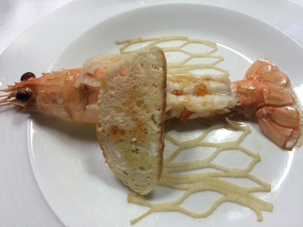 Langoustine navet, piment d'Espelette © GP