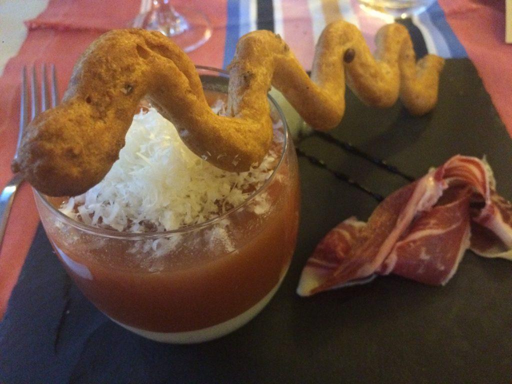 Blanc-manger de brebis et gaspacho ©GP