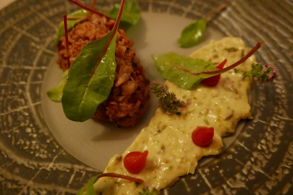 Tartine de pied de porc sauce tartare ©GP