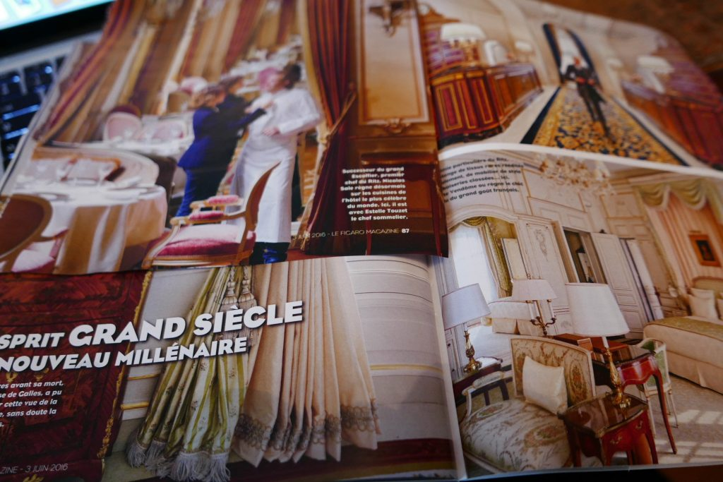 Le Ritz dans le Figaro Magazine © GP
