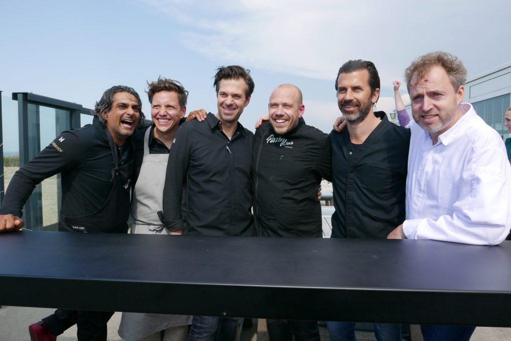 Sergio Herman (3e sur la gauche) et ses amis © GP