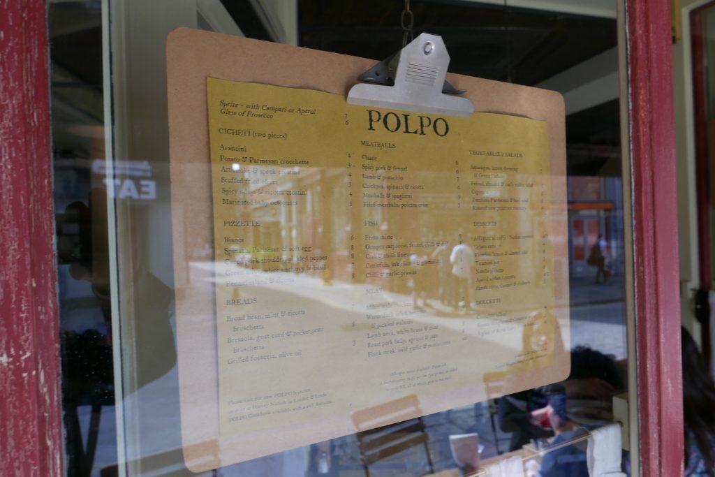 La carte affichée au dehors ©GP