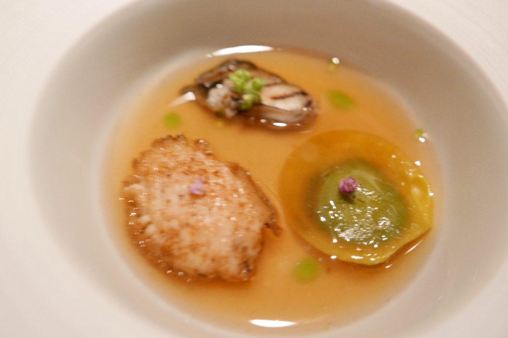 Ormeau, huître, dashi © GP