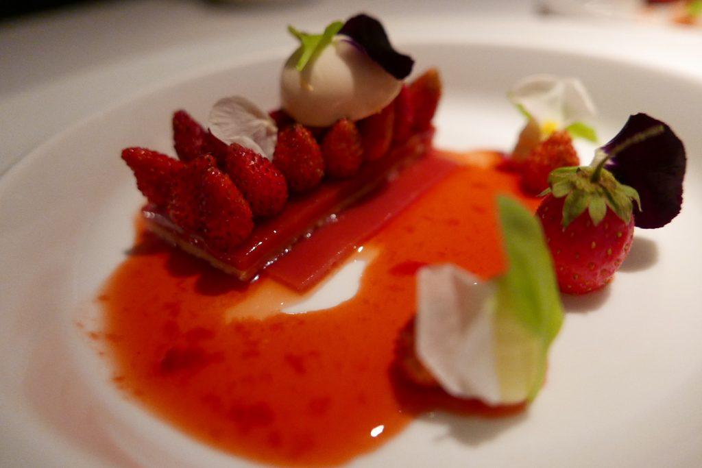 Tarte sablée fraises des bois © GP