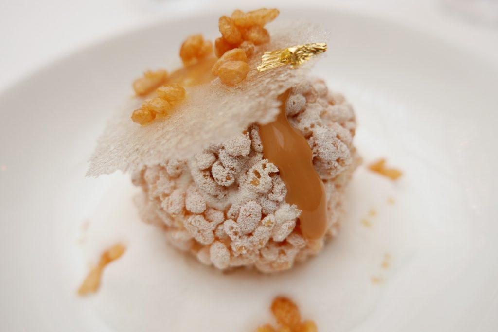 Lait glacé, caramel, riz soufflé © GP