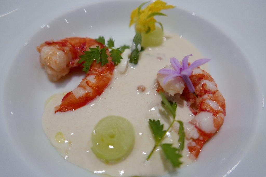 Crevettes et concombre © GP