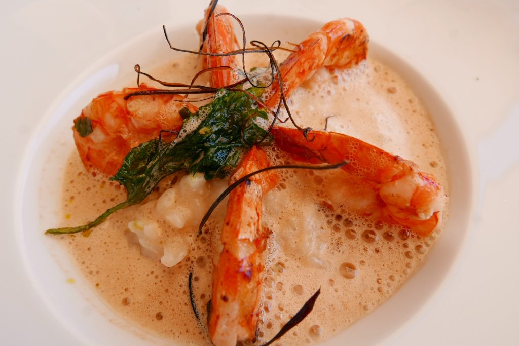Gambas et risotto © GP