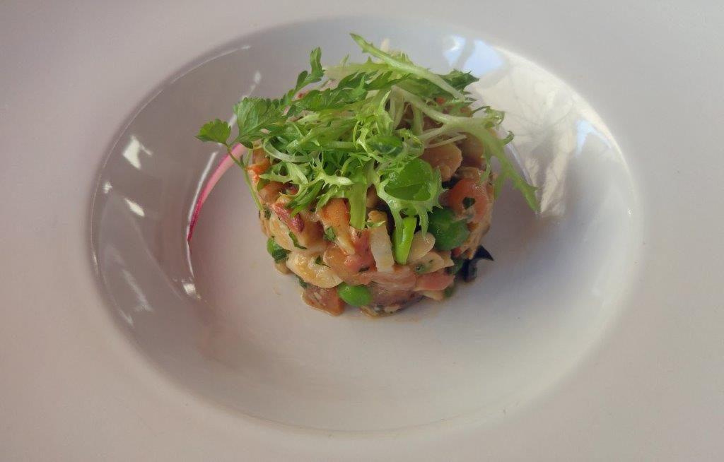Salade de poulpe et saumon confit ©AA
