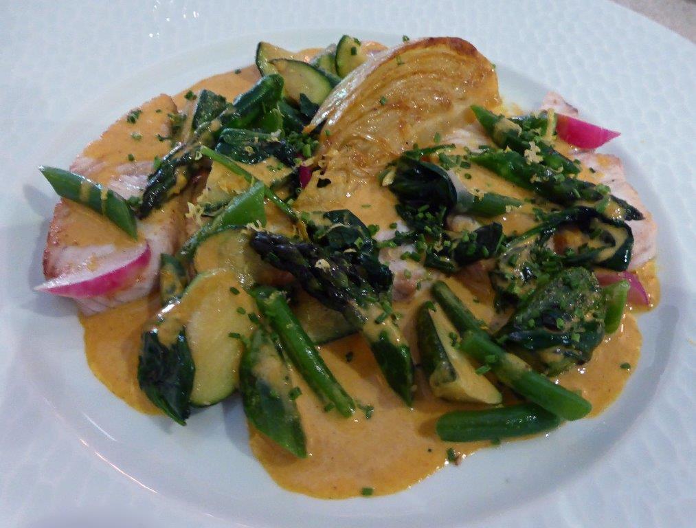 Seriole et légumes de saison ©AA