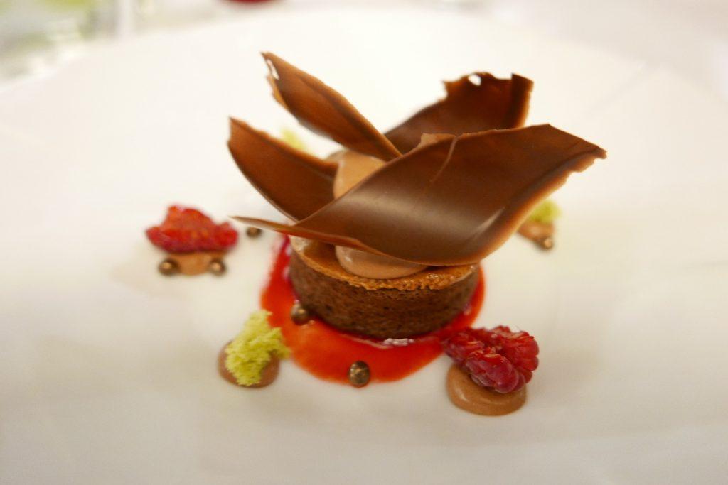Fondant de chocolat et framboise © GP