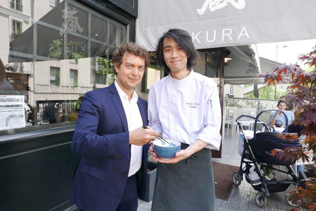 Jérome Bracco et le chef Suzuki ©GP