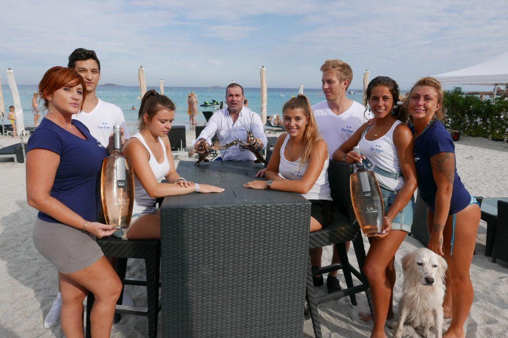 Toute l'équipe de la Playa Baggia ©GP