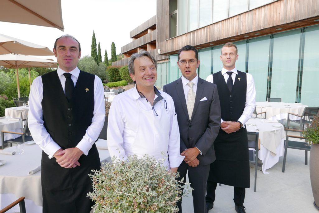 Fabio Bragagnolo et l'équipe de salle © GP