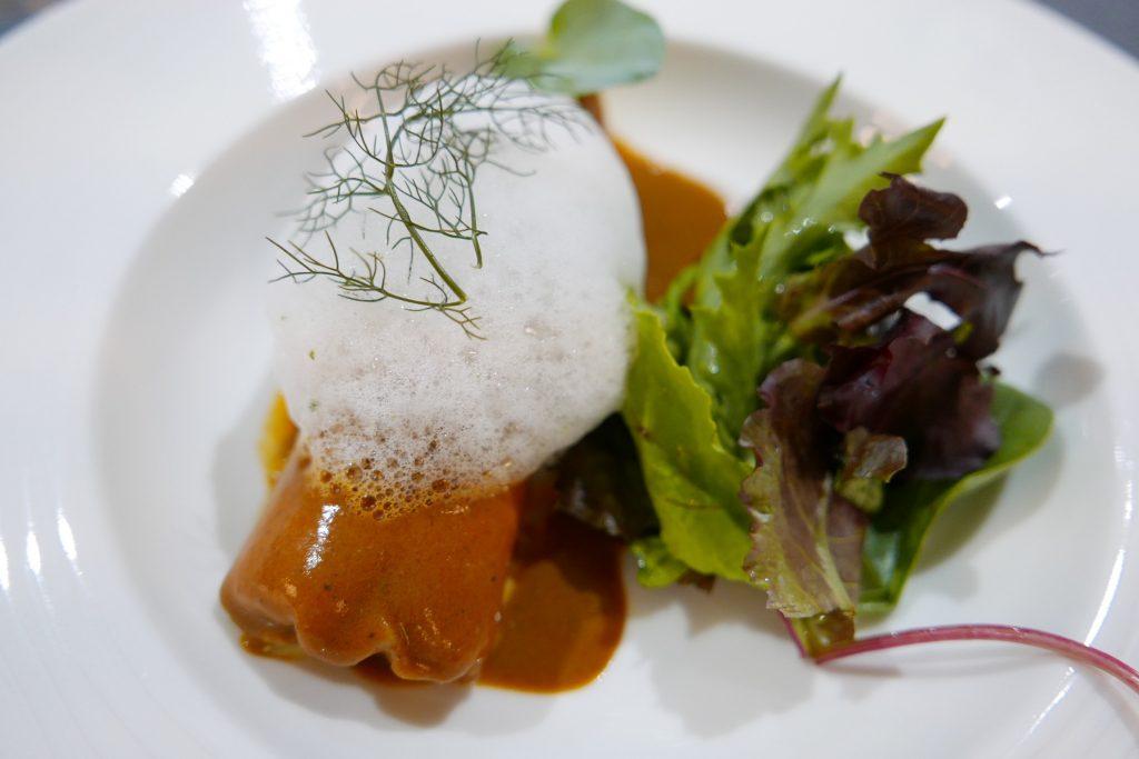 Cannelloni de poisson et crème de crustacés ©GP