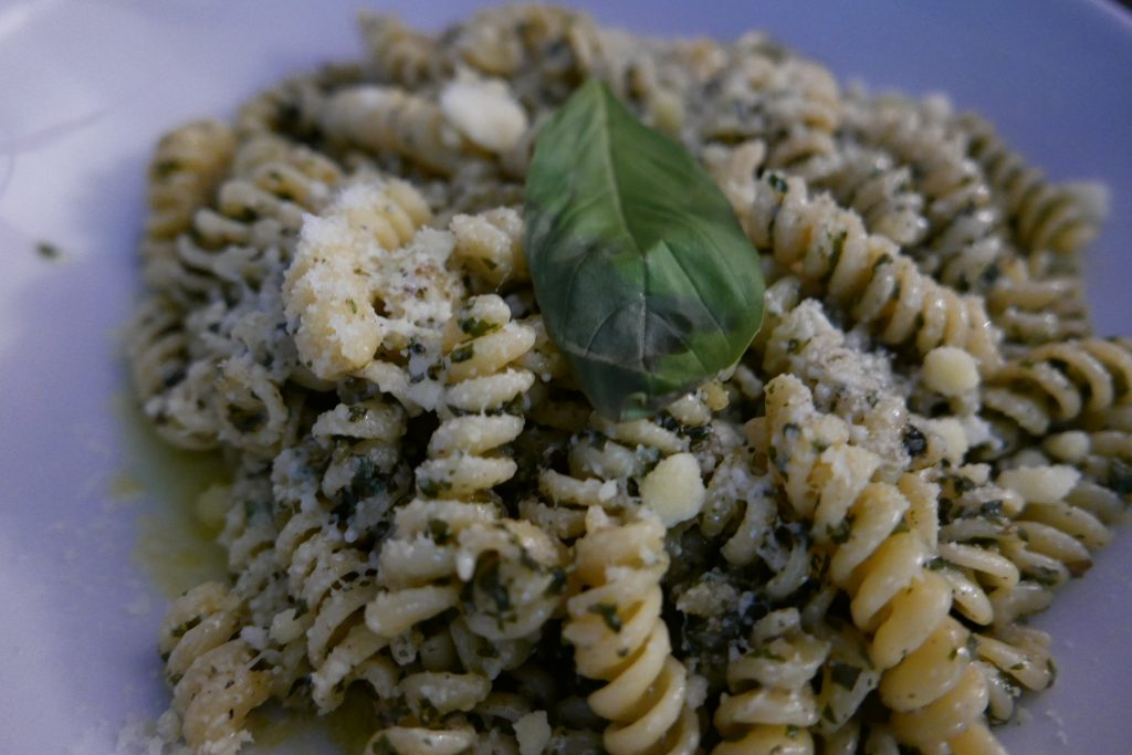 Fusilli au pesto © GP