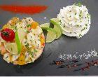 Ceviche de dorade et saumon mariné au citron vert, chantilly d'agrume ©GP