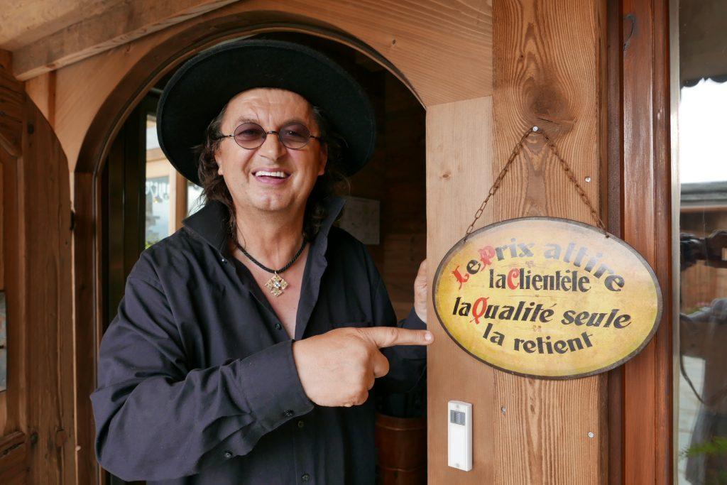 Marc Veyrat à la Maison des Bois ©GP
