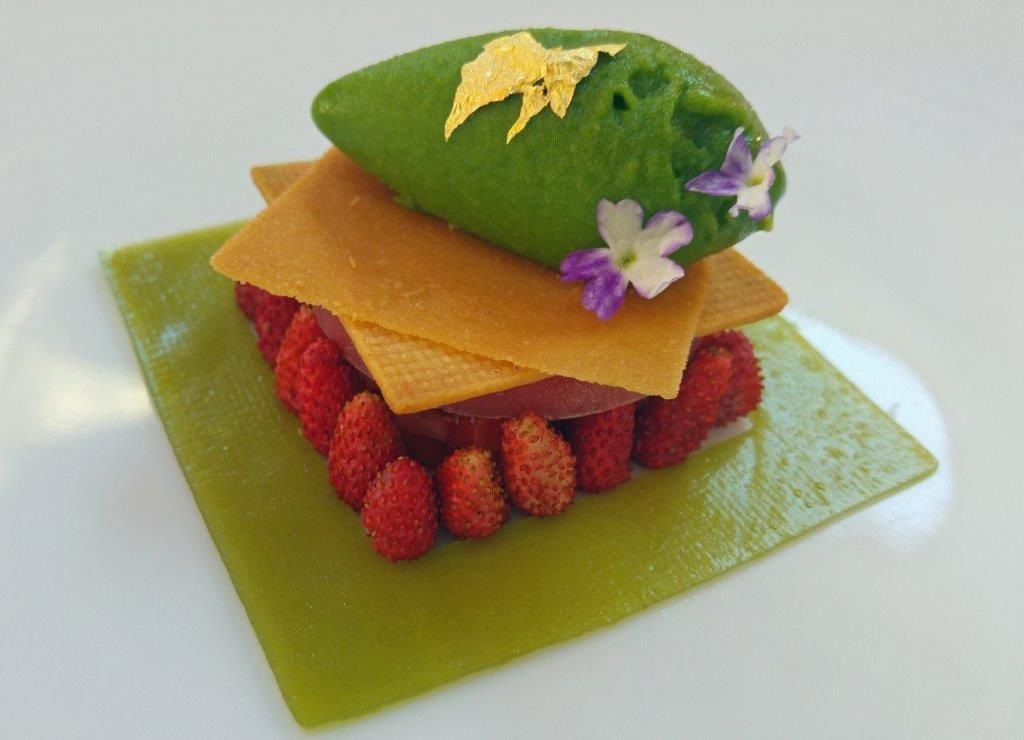 Dessert aux fraises des bois ©AA