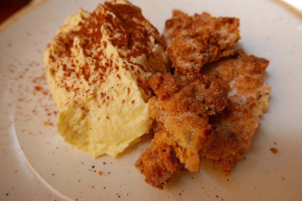 Sbrisolona et crème au mascarpone © GP
