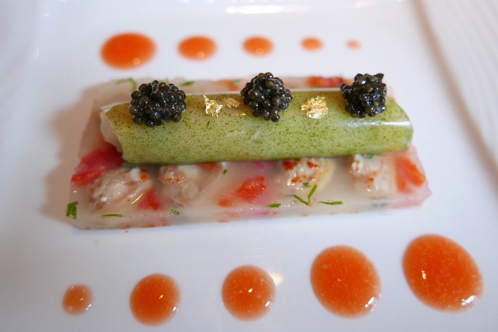 alourdes façon vongole , cannelloni au jus de persil plat et celeri ©GP