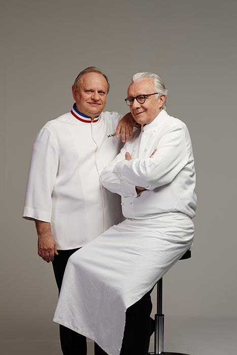 Robuchon et Ducasse en couverture du Chef © Kasia Kozinski