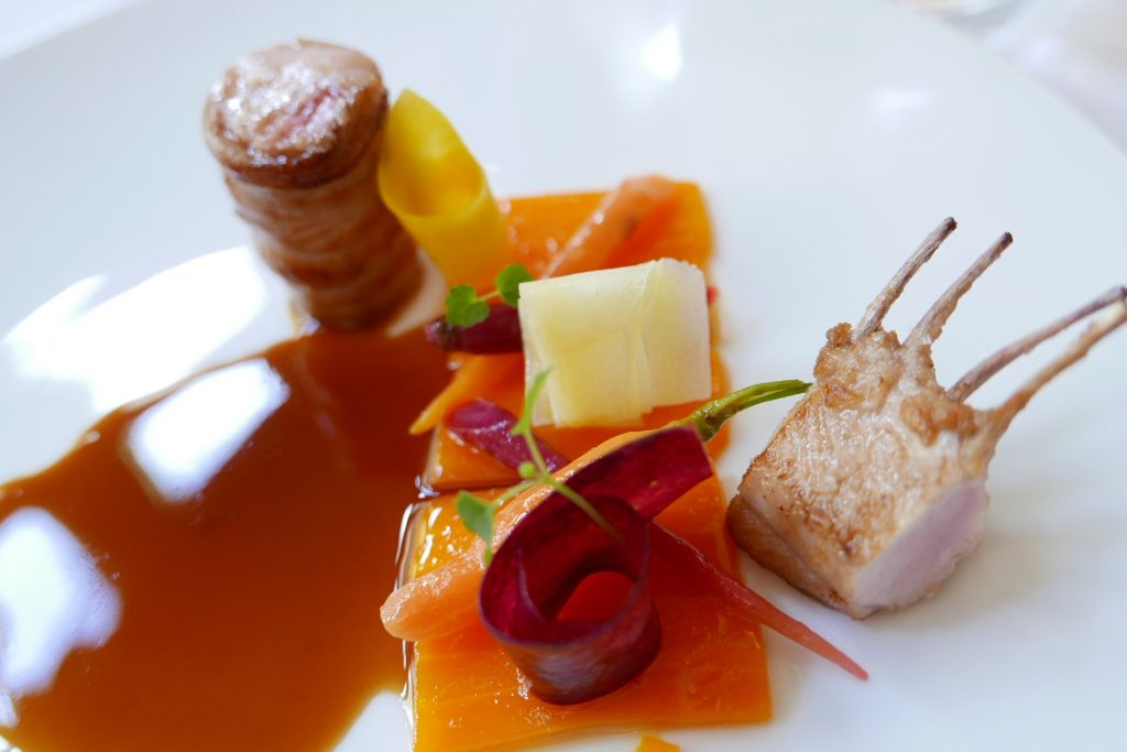 Carré et râble de lapin à la carotte © GP
