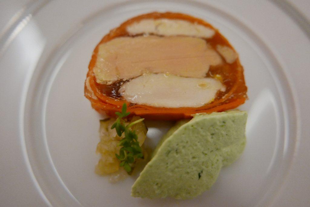 Pressé de poule noire au foie gras © GP