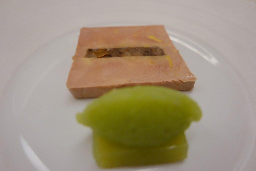 Foie gras, baerewecke et pommes © GP