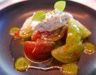 Tomates multicolores et caillé de chèvre©GP