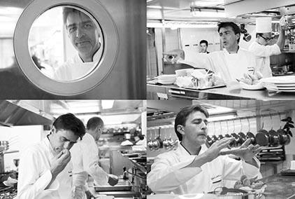 Yannick Alléno en cuisine © Maurice Rougemont