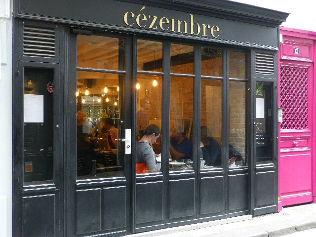 C zembre restaurant paris 6e un peu d 39 iode dans un for Apprentissage cuisine paris