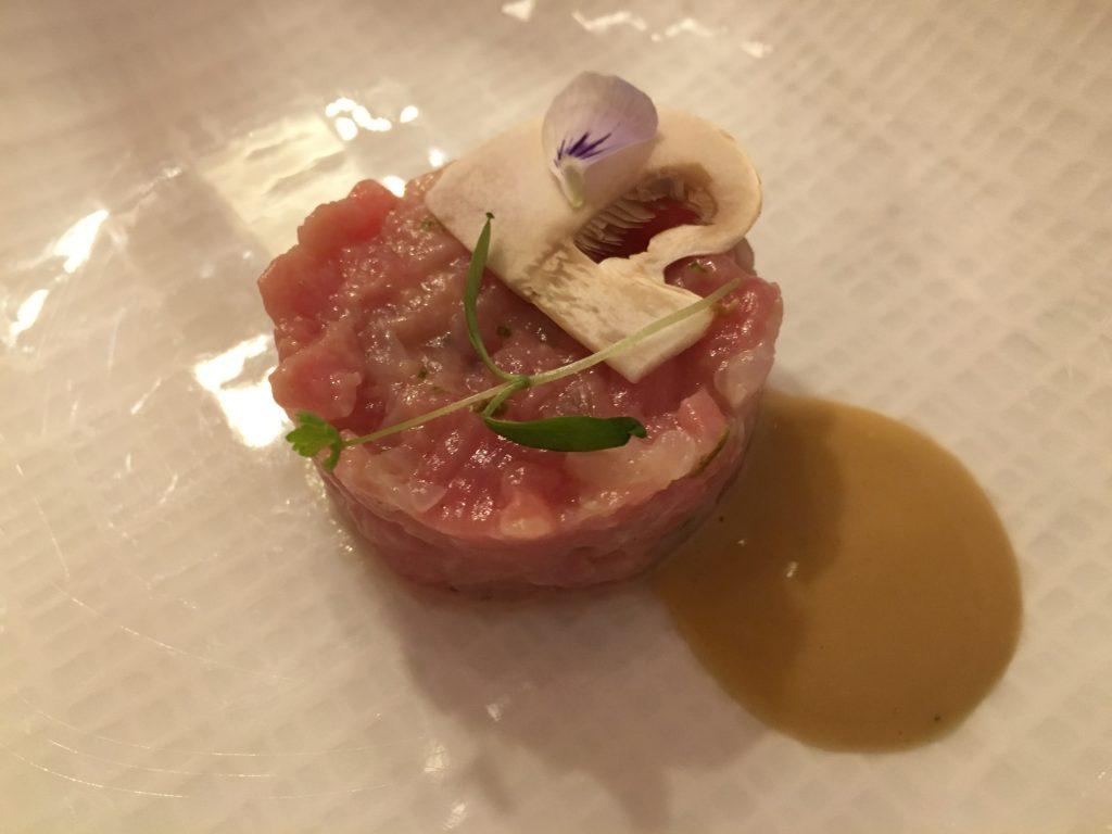 Tartare de veau et langoustine © GP