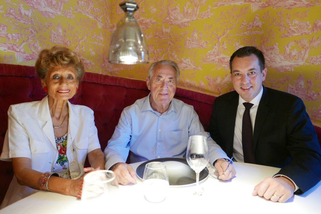 Monique et Emile Jung avec Cédric Moulot © GP