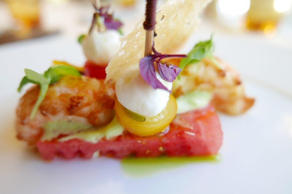 Tartine fraîcheur de pastèque et langoustine ©GP