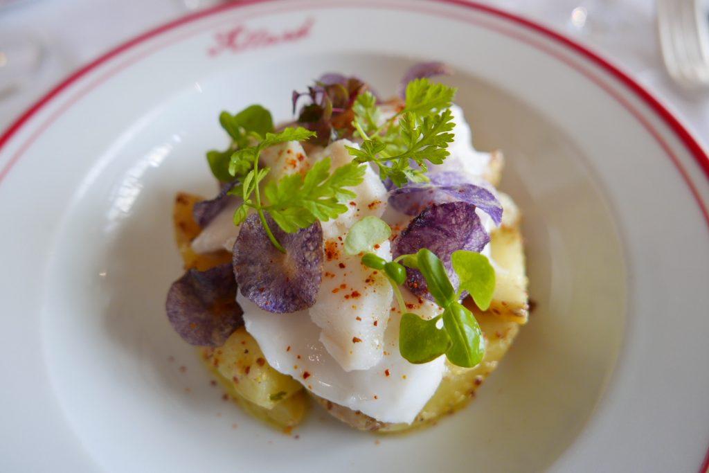 Morue et salade de pommes de terre mourtardée ©GP