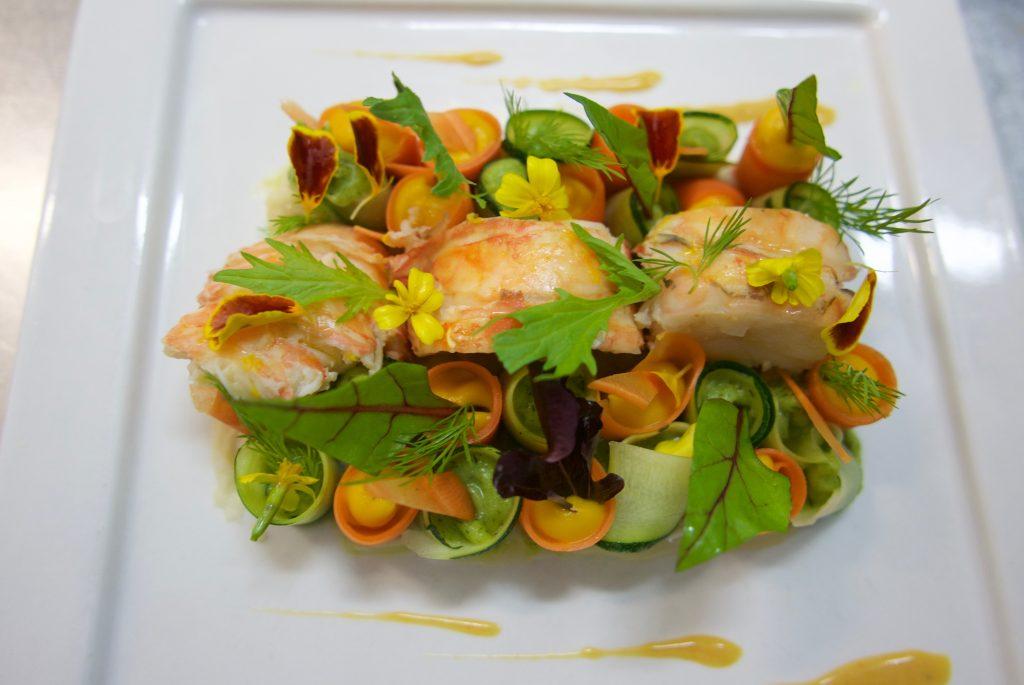 Langouste et cannelloni de légumes © GP