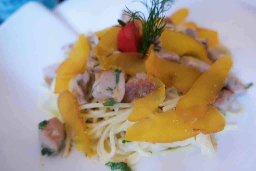 Spaghetti à la poutargue et au thon © GP