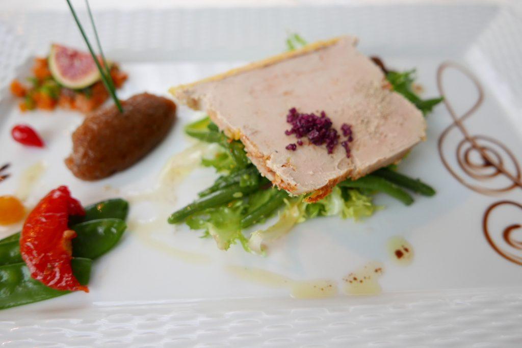 Salade de haricots verts au foie gras © GP