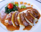 Magret, artichaut, jus de truffe et foie gras © GP