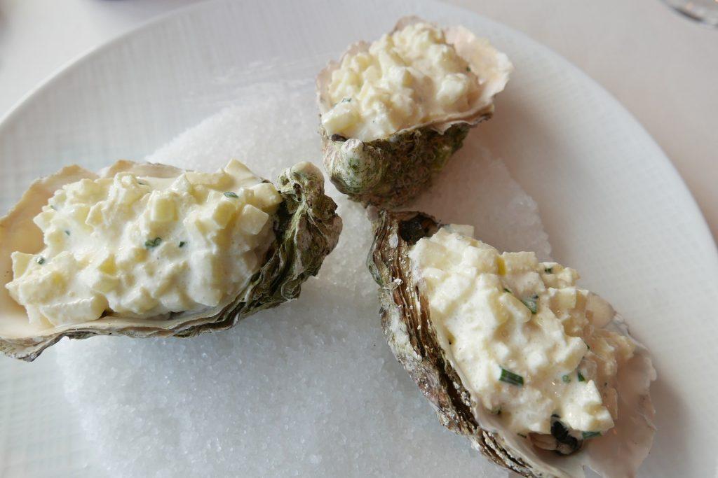 Huîtres et rillettes de rouget © GP
