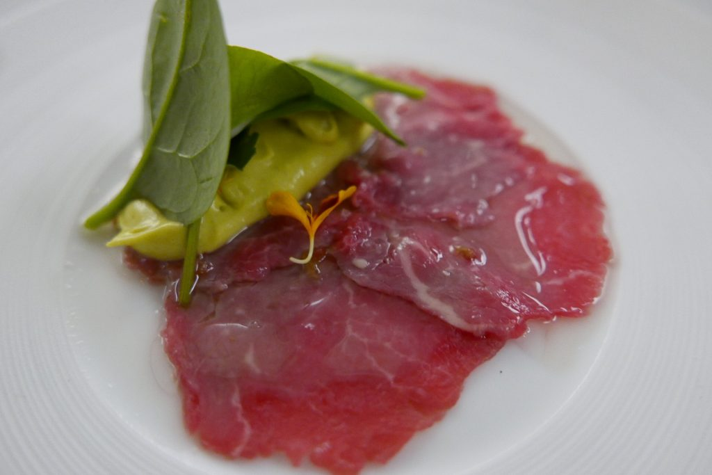Carpaccio et mousse d'avocat © GP