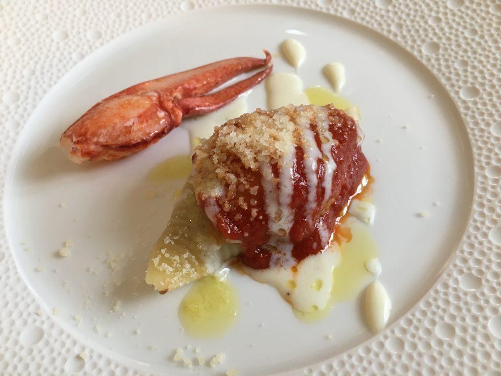 Conchiglioni à l'aubergine parmigiana et homard ©GP
