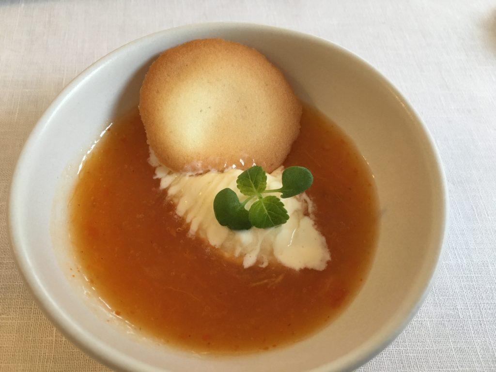 Passata de kaki et crème glacée au gorgonzola©GP
