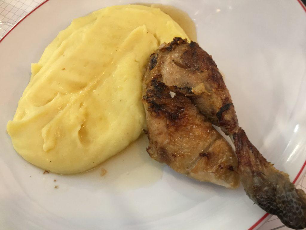 Cuisse de poulet pomme purée © GP