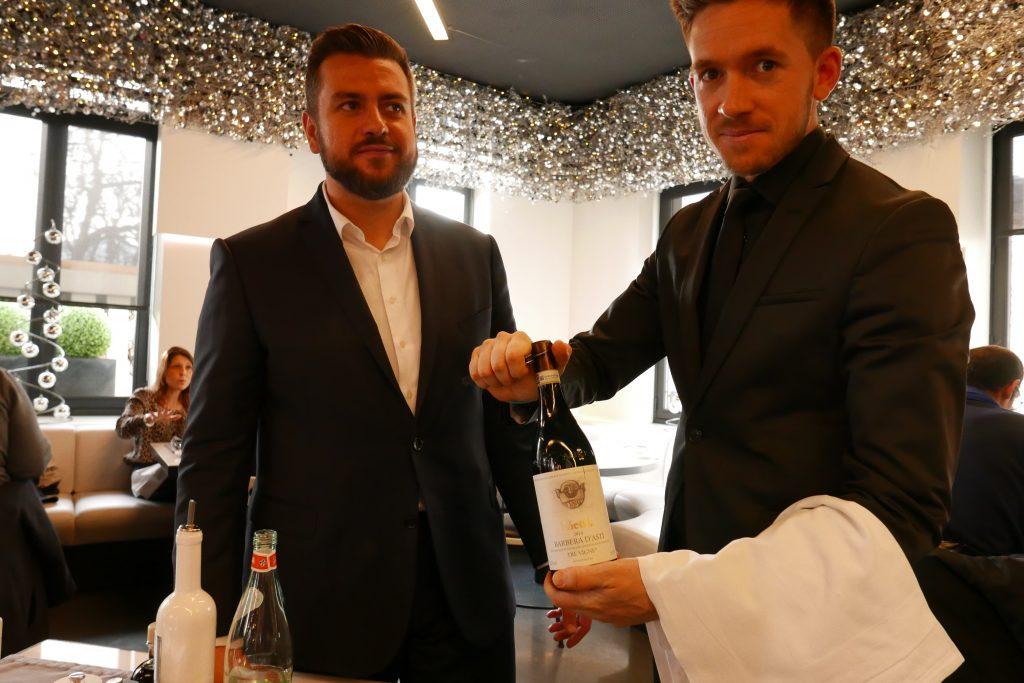 Sébastien Mancuso et le service du vin © GP