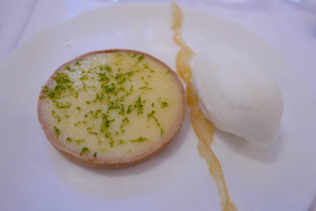 Tarte au citron et sorbet © GP