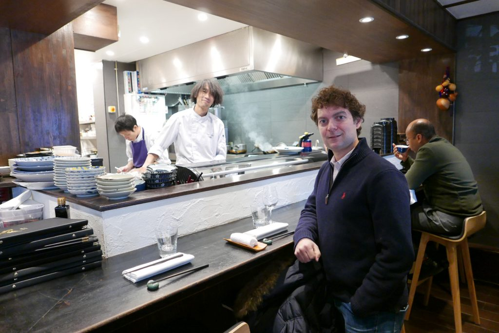 Jérome Bracco chez Kura avec le chef Suzuki © GP