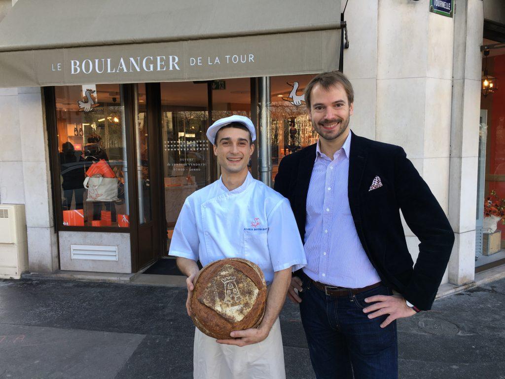 André Terrail et le boulanger © GP