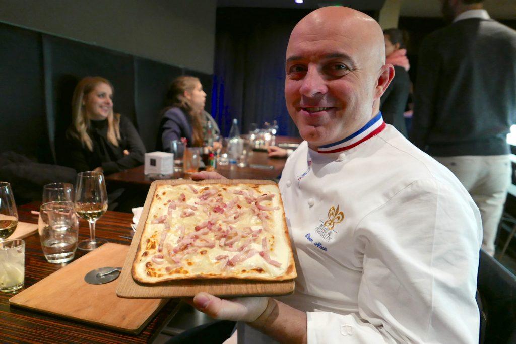 Olivier Nasti et la tarte flambée nature © GP